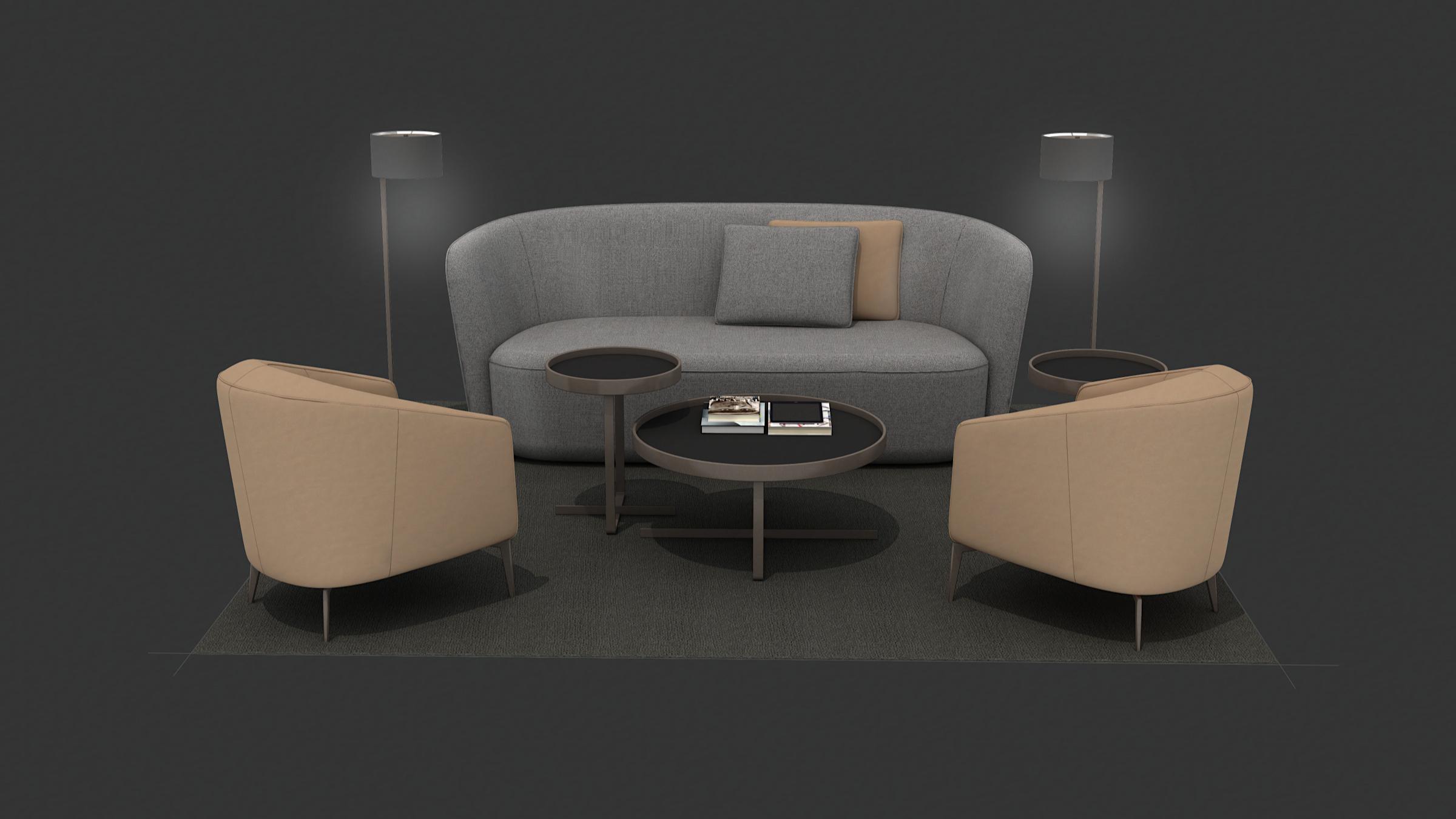 Bespoke 3D Modeling Services for Designer Furniture Brands