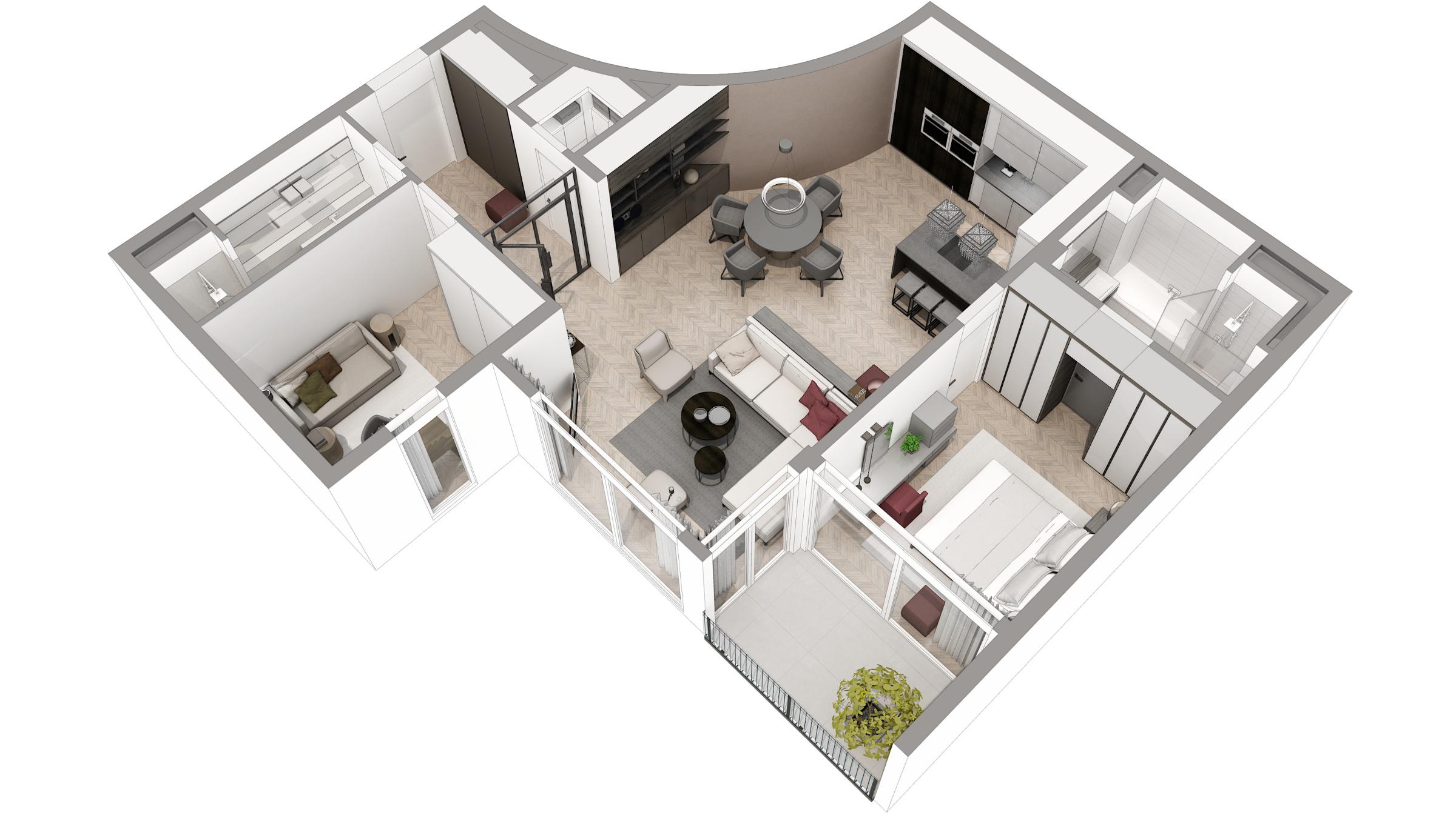 3D floor-plan production